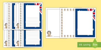 The Queen's Birthday Page Border Pack - Queen, persuasive writing, persuasive text, Queen Elizabeth, Australia