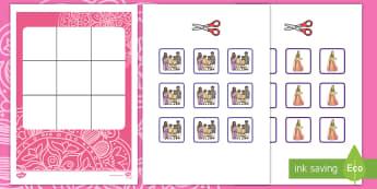 Three in a Row Diwali Activity - EYLF, Foundation, Game, Numeracy, Problem Solving, Counting, festivals, diva, lakshmi, Rama, Sita, A