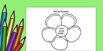 Floarea emoțiilor Fișă de lucru