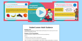 Year 2 Grammar and Punctuation Test 4 Guided KS1 PowerPoint - SPaG, GPS, English, sentences, strategy,