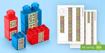 Number Street to 20 Connecting Bricks Game - EYFS, Early Years, KS1, duplo, lego, plastic bricks, building bricks, Maths, Numeracy, numbers to 20