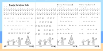 Cryptic Christmas Code Mixed Operations Activity Sheet - cryptic, christmas, code, mixed operations, activity, australia