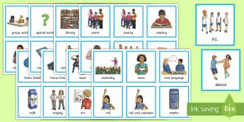 New Zealand Visual Timetable - New Zealand Back to School, timetable, visual timetable, class organisation