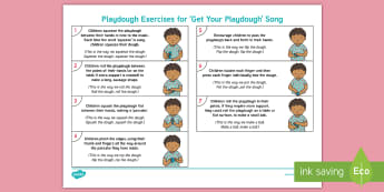 EYFS Playdough Play Adult Guidance - Playdough Play, dough disco, finger gym, fine motor skills, physical development