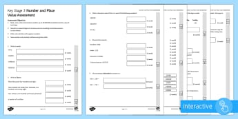 Number and Place Value Assessment Pack Go Respond Activity Sheets  -  Place Value, Negative Numbers, Rounding, Approximation, numeracy, minus, column, method
