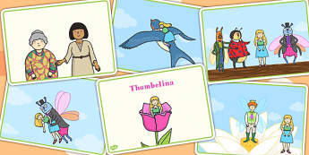 Thumbelina Story Sequencing Cards - stories, books, visual aid