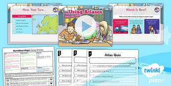 PlanIt - Geography Year 5 - Marvellous Maps Lesson 1: Using Atlases Lesson Pack