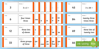 Loop Cards 3 Times Table - loop cards, 3 times table, times tables, times table, activity