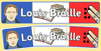 Louis Braille Display Banner - louis braille, braille, display