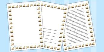 Puppy Page Borders - puppy, page borders, borders, writing