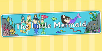 The Little Mermaid Display Banner - story books, display, header