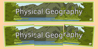 Physical Geography Display Banner - physical geography, display, banner, display banner