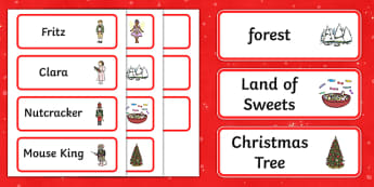 The Nutcracker Word Cards - nutcracker, word cards, cards, ballet