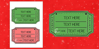 Christmas Fair Editable Ticket - christmas fair, editable, ticket, edit