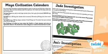 History: The Maya Civilisation UKS2 Unit Home Learning Tasks