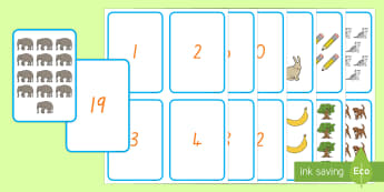 1-20 Number and Quantity Matching Cards - New Zealand, maths, numbers to 20, matching, matching cards, 0-20, counting, number recognition