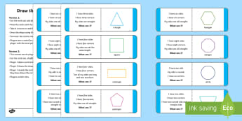 Draw The Shape Game - shape, 2D, properties, sides, corners, number, count, draw, drawing, circle, semicircle, semi-circle