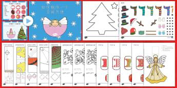圣诞主题手工制作集 - 圣诞节,节日,庆祝,手工制作,集
