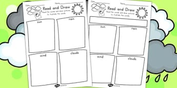 Winter Read and Draw Worksheet - reading, drawing, seasons