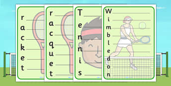 Wimbledon Acrostic Poem Template - wimbledon, 2013 wimbledon tournament, wimbledon poem template, wimbledon writing frame, wimbledon writing template