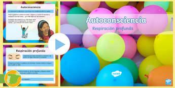 Presentación: Respiración profunda - Autoconsciencia - meditación, mindfulness, respirar, yoga, ,Spanish