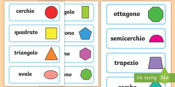 Forme geometriche 2D Parole Illustrate - forme, geometriche, 2D, parole, illustrate, vocaboli, italiano, italian, geometrica, matematica, ita