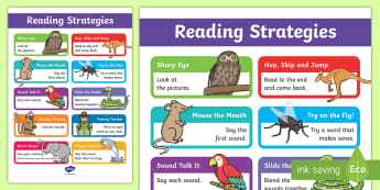 Guided Reading Strategies Display Poster - Guided Reading Strategy Cards - Guided, Reading, Strategy, Cards, reding, reading display