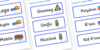 Crystals Themed Editable Construction Area Resource Labels - Themed Construction resource labels, Label template, Resource Label, Name Labels, Editable Labels, Drawer Labels, KS1 Labels, Foundation Labels, Foundation Stage Labels