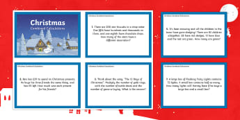 LKS2 Christmas Combined Calculations Challenge Cards