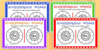 Multiplication Wheels Maths Challenge Cards - mulitply, maths