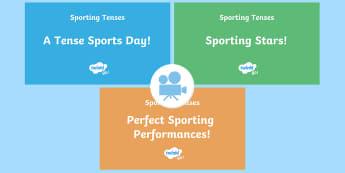 SPaG-Tastic! : Sporting Tenses KS2 Video Pack - spag, grammar, tenses, continuous, progressive, simple past, simple present, Twinkl Go, twinkl go, TwinklGo, twinklgo