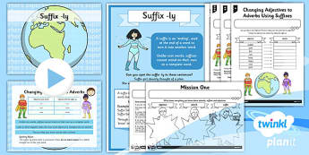 PlanIt Y3 SPaG Lesson Pack: Suffix ly - GPS, spelling, punctuation, grammar,root