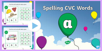 CVC Words A Spelling  PowerPoint - CVC Words A Spelling PowerPoint - CVC words, spellings, powerpoint, cvcwords, speeling, cvc wods, sp