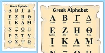 Ancient Greek Alphabet Poster - greek alphabet poster, greek alphabet, ancient greece, ancient greece poster, greek history, ks2 history, history poster