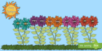 Flower Power Sunny Synonyms Large Display Cut-Out Pack - synonyms, literacy, writing, words, instead of