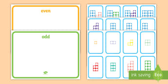 Odd and Even Number Shape Sorting Activity - odd, even, sorting, number, sort, number shapes