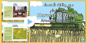 Harvest Festivals Around The World PowerPoint Arabic Translation-Arabic-translation