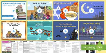 KS1 Autumn Term 1 Bumper Assembly Pack - assemblies, SLT, PowerPoint, script, back to school,