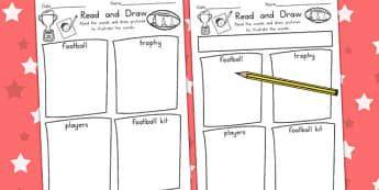 AFL Australian Football League Read and Draw Worksheet - sport