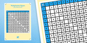 Multiplication Square Without Square Numbers - multiplication square, without square numbers, square numbers, square, numbers