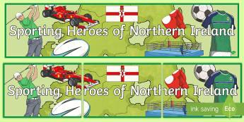Sporting Heroes of Northern Ireland Display Banner - NI Sporting Heroes of Northern Ireland, sports, northern ireland, n. ireland, famous sports, sportsp