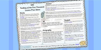Feeding of the Five Thousand Lesson Plan Ideas KS2 - lessons, KS2