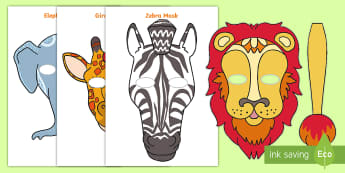Tinga Tinga African Animals Role-Play Masks - Tales from Africa, myths, story, hare, animals,