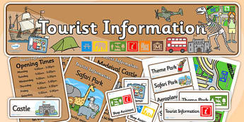 Tourist Information Role Play Pack-tourist information, role play, tourist information pack, role play pack, role play materials, activities