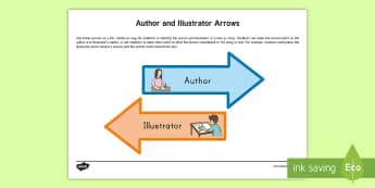 Author and Illustrator Arrow Cut-Outs - Author, Illustrator, Common Core, ELA, Kindergarten, Hands On