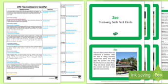 EYFS The Zoo Discovery Sack Plan and Resource Pack - EYFS, zoo, animals, discovery, sack