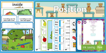 Childminder Position In On and Under EYFS Resource Pack - Maths, Mathematics, weight, Sensory Play, positional, prepositions, shape space and measure