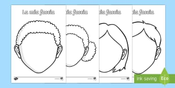 Disegna la tua Faccia Fogli da Completare Poster - completa, il, viso, la, faccia, disegna, disegnare, italiano, italian, colora, materiale, scolastico