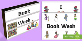 Book Week Light Box Inserts - Australia, EYLF, Topics and events, celebrations, book week, light box inserts, F - 2, signs and lab