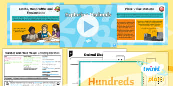 PlanIt Y5 Number and Place Value Lesson Pack Place Value (3) - decimal, partition, game, tenths, hundredths, thousandths,